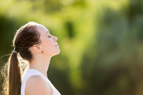 A woman getting fresh air