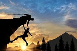 Climbing woman