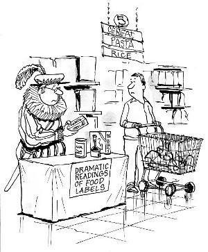 dramatic food label readings