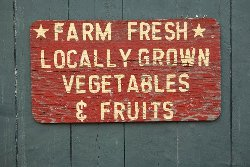 farm fresh locally grown vegetables and fruits