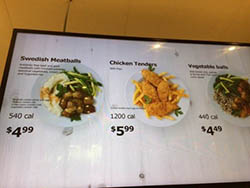 IKEA menu