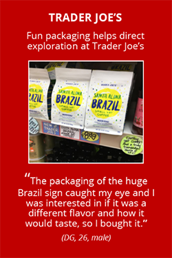 Trader Joe's package with Brazil sign